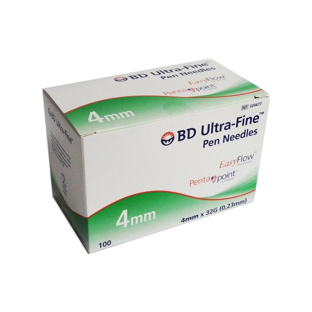 BD Micro-Fine Ultra 4mm 32 Gauge Pen Needles (100 needles)
