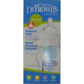 Dr Browns Wide Neck Nat Flow Btl 4Oz