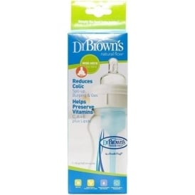 Dr Browns Wide Neck Nat Flow Btl 8Oz