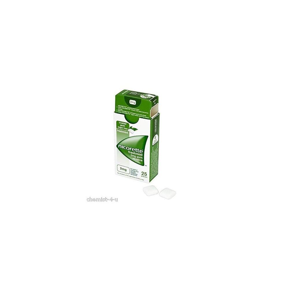 Nicorette Gum Freshmint 2Mg 25 Pieces