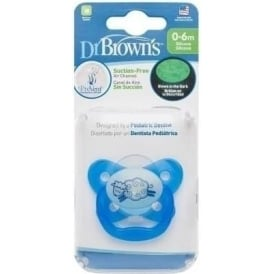 Options Prevent Glow In Dark Soother 0-6 Months Blue