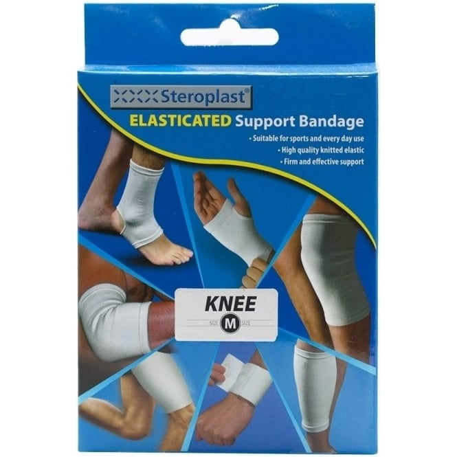 Steroplast Elasticated Support Bandage Knee, Size Medium (M)