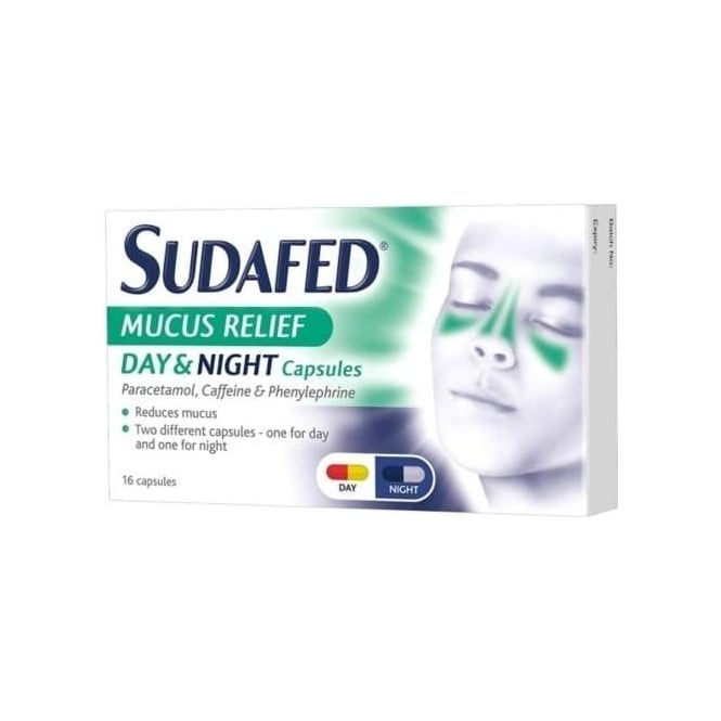 Sudafed Mucus Relief Day And Night Capsules - 16