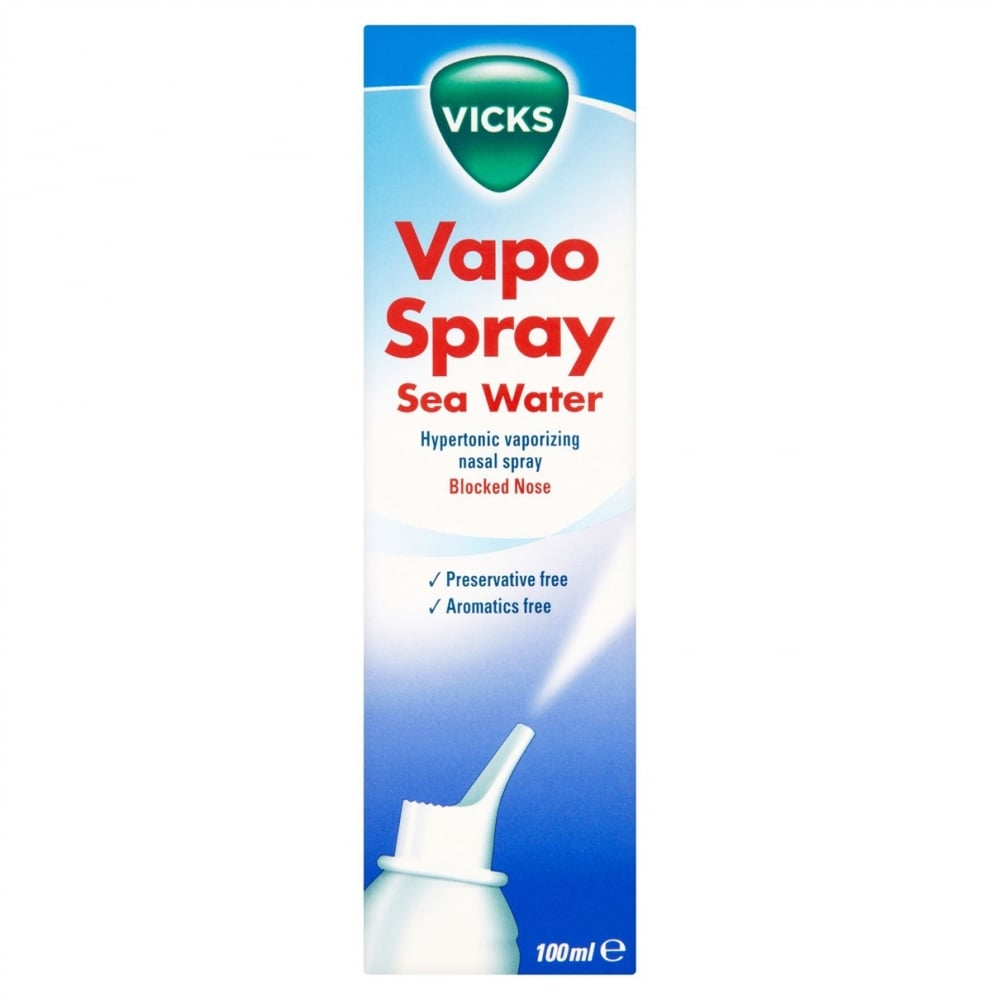 Vicks Saline Nasal Spray 100ml Cough Cold Flu From Chemist